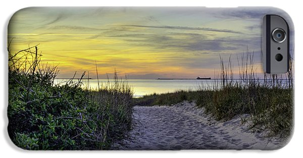 Pathway iPhone Cases - Dune Walk II iPhone Case by Pete Federico