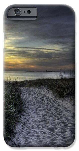 Pathway iPhone Cases - Dune Walk iPhone Case by Pete Federico