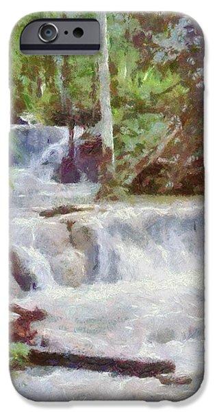Dunn River Falls iPhone Case by Jeff Kolker