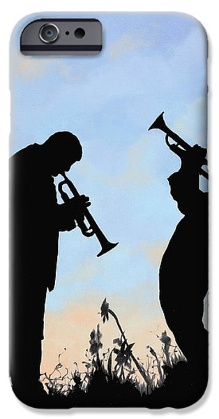 Morning iPhone Cases - Duo iPhone Case by Guido Borelli