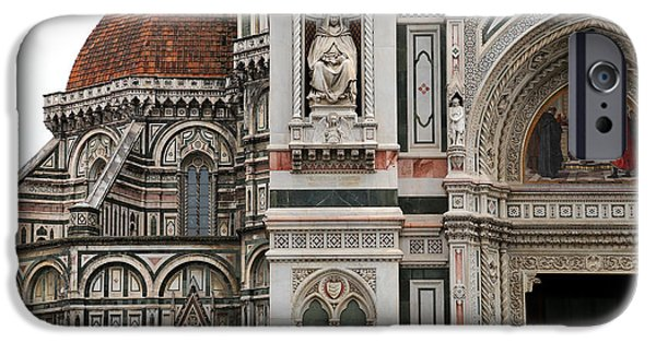 The Duomo In Florence iPhone Cases - Duomo Florence 1 iPhone Case by Andrew Fare