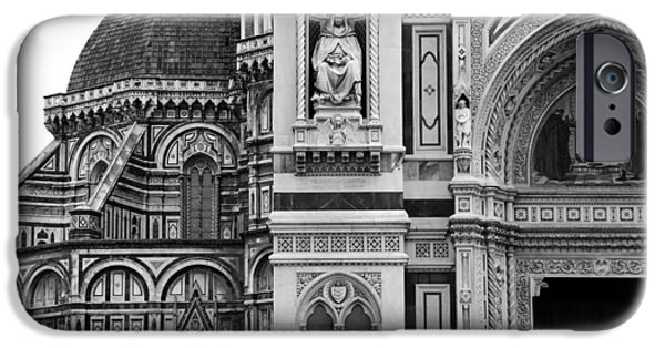 The Duomo In Florence iPhone Cases - Duomo Florence 1b iPhone Case by Andrew Fare