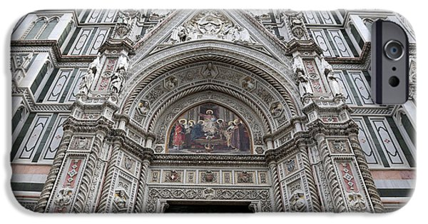 The Duomo In Florence iPhone Cases - Duomo Florence 3 iPhone Case by Andrew Fare