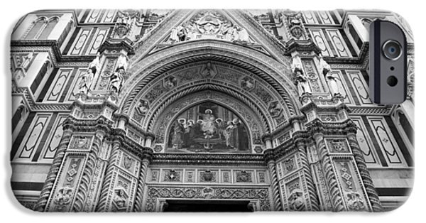 The Duomo In Florence iPhone Cases - Duomo Florence 3b iPhone Case by Andrew Fare