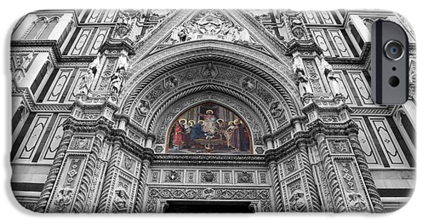 The Duomo In Florence iPhone Cases - Duomo Florence 3c iPhone Case by Andrew Fare
