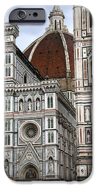 The Duomo In Florence iPhone Cases - Duomo Florence 4 iPhone Case by Andrew Fare