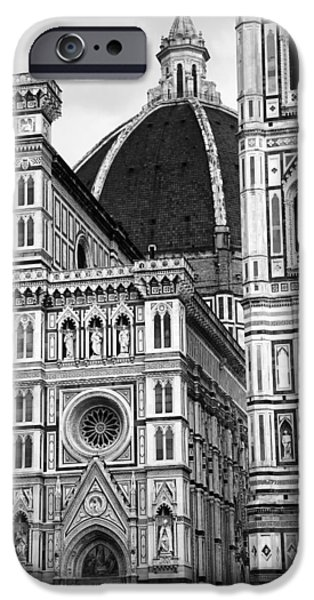 The Duomo In Florence iPhone Cases - Duomo Florence 4b iPhone Case by Andrew Fare