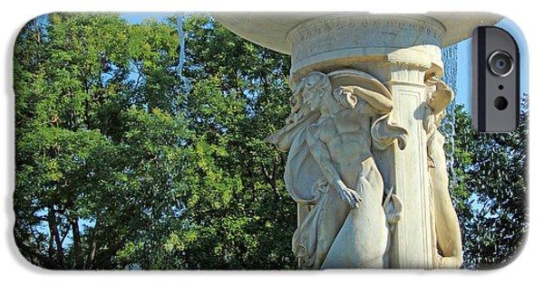 Cora Wandel iPhone Cases - Dupont Circle Fountain -- The Wind iPhone Case by Cora Wandel