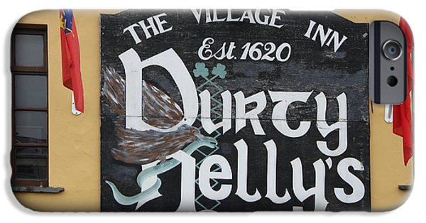 House iPhone Cases - Durty Nellys Inn Sign iPhone Case by Christiane Schulze Art And Photography
