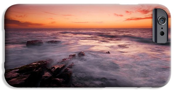 Ocean Sunset iPhone Cases - Dusk Descends iPhone Case by Mike  Dawson
