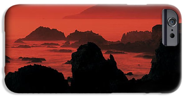 Big Sur Ca iPhone Cases - Dusk Headlands Near Pacific Valley Big iPhone Case by Panoramic Images