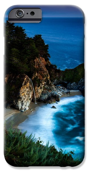 Ocean Sunset iPhone Cases - Dusk in the Cove iPhone Case by Dan Holmes