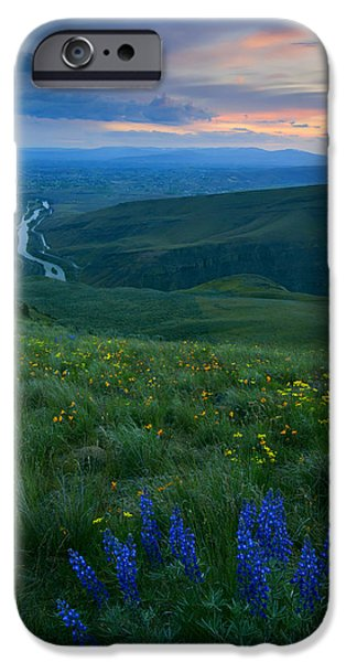 Floral Photographs iPhone Cases - Dusk over the Yakima Valley iPhone Case by Mike  Dawson