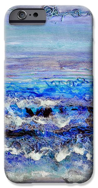 Ocean Reliefs iPhone Cases - Dusk Tide iPhone Case by Regina Valluzzi