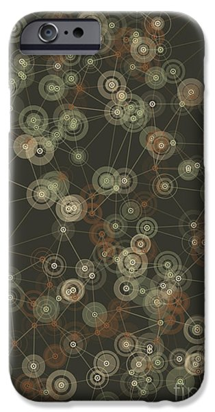 Vector iPhone Cases - Dust Polygon Connection Design Pattern iPhone Case by Frank Ramspott