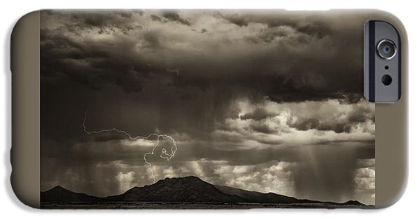 Electrical iPhone Cases - Dust Storm Coming iPhone Case by Janet Ballard