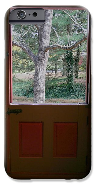 Grist Mill iPhone Cases - Dutch Door iPhone Case by Rebecca Smith