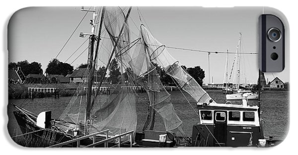 Village iPhone Cases - Dutch Fishing Trawler iPhone Case by Aidan Moran