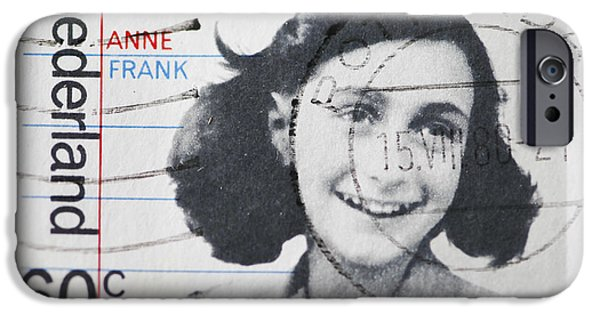 1940s Portraits iPhone Cases - Dutch Stamp With Image Of Anne Frank. iPhone Case by Patricia Hofmeester