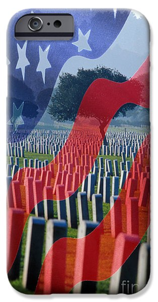 Fourth Of July iPhone Cases - Duty Honor Country iPhone Case by Jerry McElroy