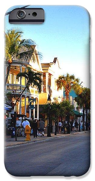 Duval Street in Key West iPhone Case by Susanne Van Hulst