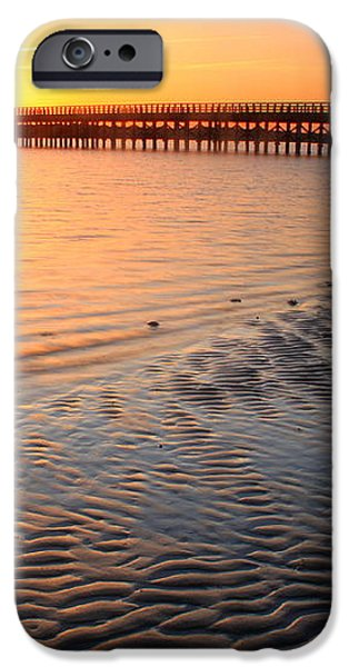 Duxbury Beach Powder Point Bridge Sunset iPhone Case by John Burk
