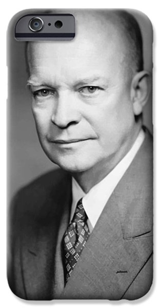 Dwight Eisenhower iPhone Case by War Is Hell Store