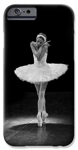 Ballet Dancers iPhone Cases - Dying Swan 5 Alternative Size iPhone Case by Clare Bambers