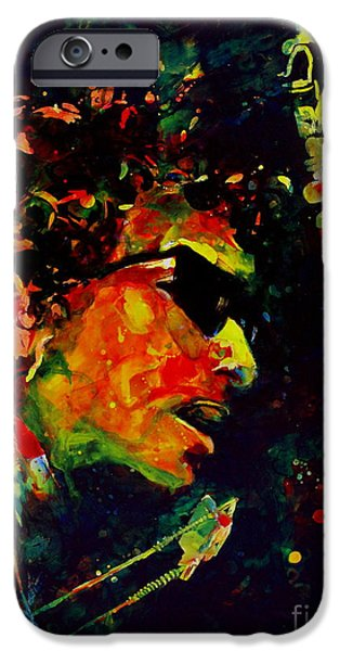 Bob Dylan Paintings iPhone Cases - Dylan iPhone Case by Linda Halom