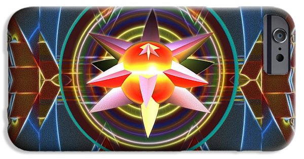 Abstract Digital Art iPhone Cases - Dynamic Star Spinner iPhone Case by Mario Carini