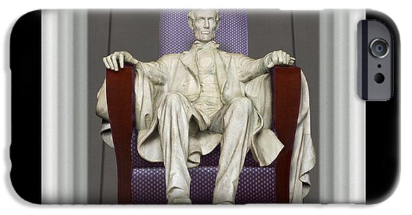 Lincoln iPhone Cases - Ea-Z-Chair Lincoln Memorial iPhone Case by Mike McGlothlen