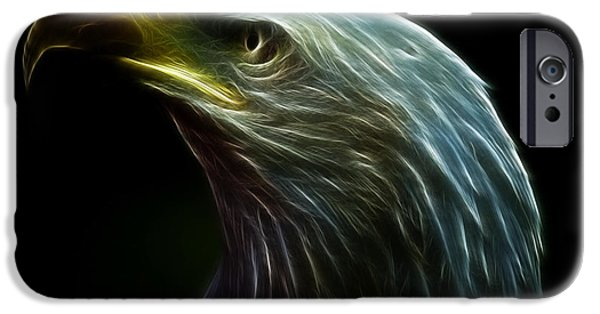 Abstract Digital Photographs iPhone Cases - Eagle Abstract iPhone Case by Don Gibson