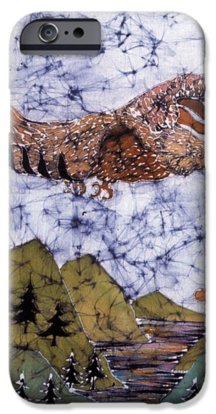 Eagle Flies Above Gorge iPhone Case by Carol Law Conklin