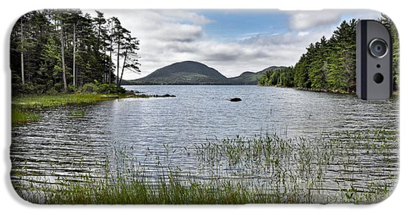 Birds iPhone Cases - Eagle Lake in Acadia National Park - Maine iPhone Case by Brendan Reals