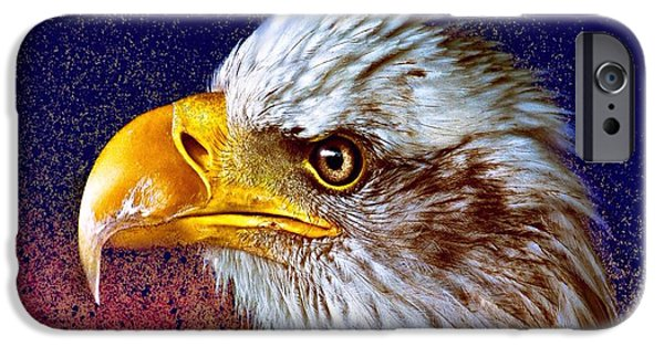 Abstract Digital Art iPhone Cases - Eagle iPhone Case by Mark Taylor