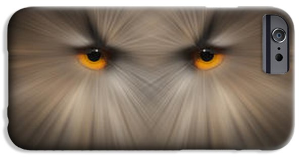 Canvassing iPhone Cases - Eagle Owl Eye Triptych iPhone Case by Andy Astbury