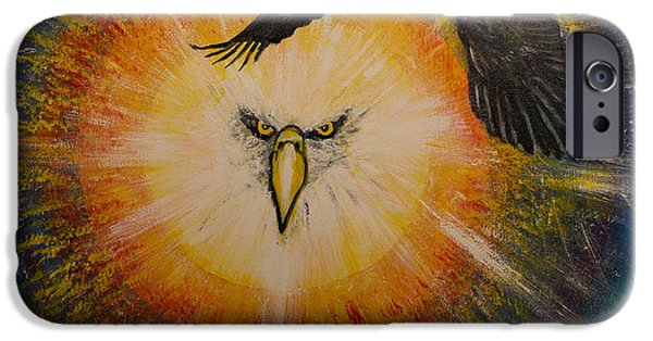 Power iPhone Cases - Eagle Power iPhone Case by Solveig Katrin