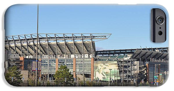 Lincoln iPhone Cases - Eagles Football Stadium - The Linc iPhone Case by Bill Cannon