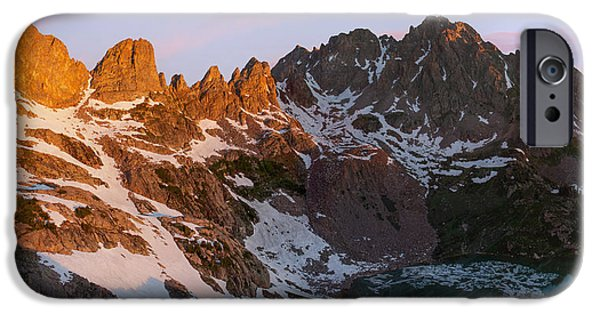 Willow Lake iPhone Cases - Eagles Nest Wilderness Sunrise iPhone Case by Aaron Spong