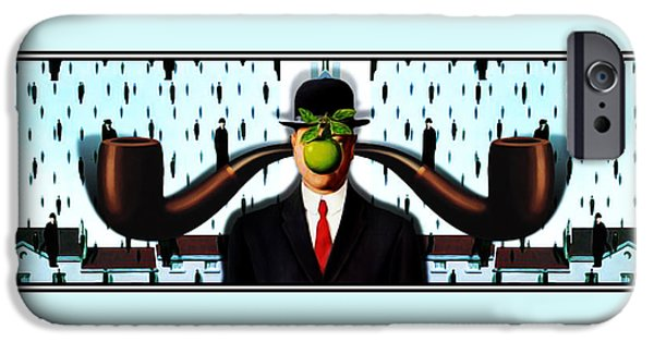 Spoof iPhone Cases - Ear Smoking Apple Guy Standing in the Man Rain iPhone Case by Gravityx9 Designs