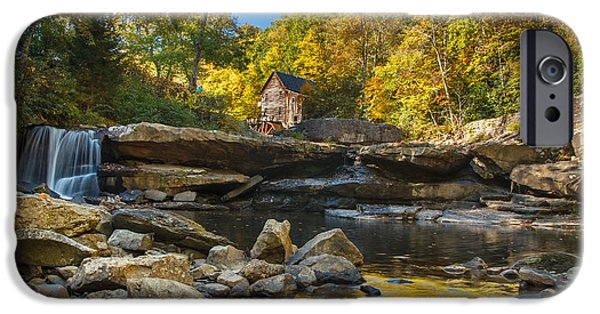 Grist Mill iPhone Cases - Early Autumn at Glade Creek Grist Mill 2 iPhone Case by Shane Holsclaw