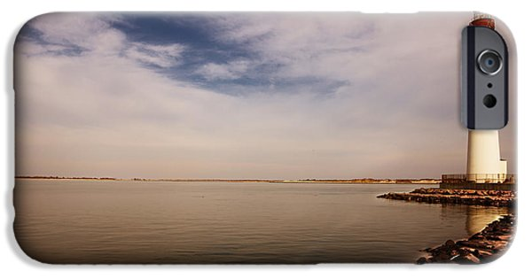 Sailing iPhone Cases - Early Evening At Barnegat Light iPhone Case by Tom Gari Gallery-Three-Photography