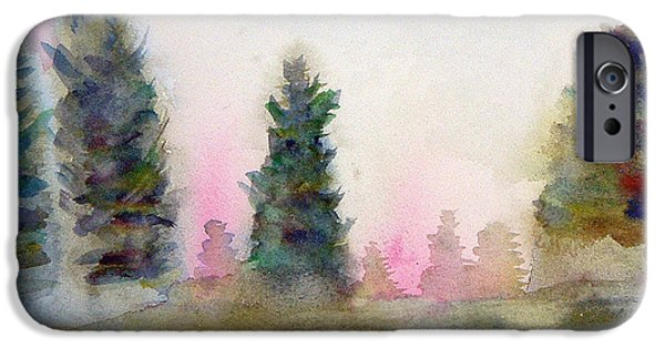 Pines iPhone Cases - Early Morning Forest iPhone Case by Paul Thompson