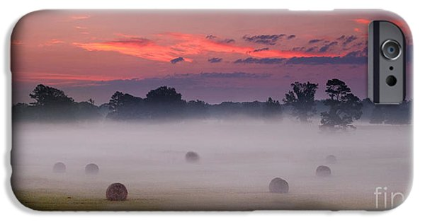 Natchez Trace Parkway iPhone Cases - Early Morning Sunrise on the Natchez Trace Parkway in Mississippi iPhone Case by T Lowry Wilson