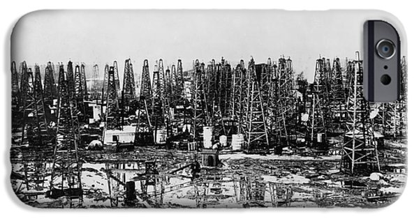 20th iPhone Cases - Early Oil Field iPhone Case by Granger