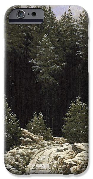 Recently Sold -  - Snowy iPhone Cases - Early Snow iPhone Case by Caspar David Friedrich