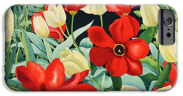Florals iPhone Cases - Early Tulips iPhone Case by Christopher Ryland