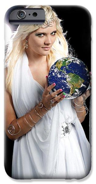 Earth Angel iPhone Case by Cindy Singleton