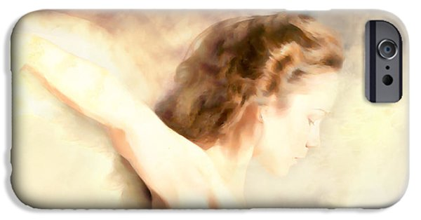 Religious iPhone Cases - Earth Angel... iPhone Case by Lee Haxton