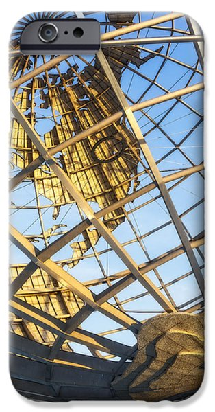 New York City iPhone Cases - Earth Day - NYC Unisphere iPhone Case by Susan Candelario